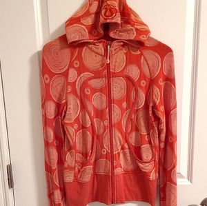 Lululemon orange zip up hoodie